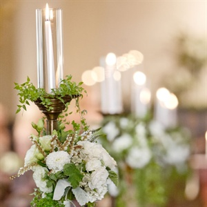 Flower Adorned Ceremony Candelabras