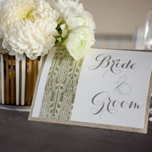 Gold Patterned Escort Card