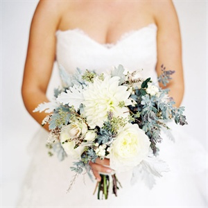 Rustic Gray and Ivory Bridal Bouquet