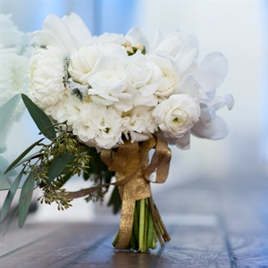 White Carnation Bridal Bouquet