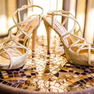 Champagne Badgley Mischka Sandals