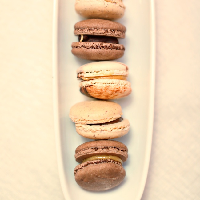 For dessert, guests enjoyed wedding pound cake and French macarons.