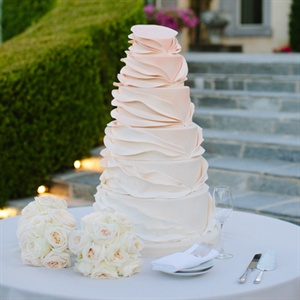 Ruffled Ombre Wedding Cake