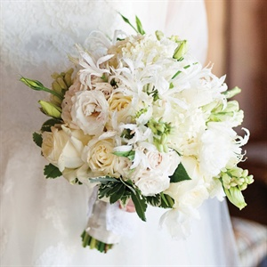 Textured White Bridal Bouquet