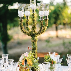 Moss-Covered Candelabra