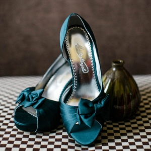 Peacock Blue Bridal Shoes