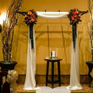 Rustic Ceremony Altar