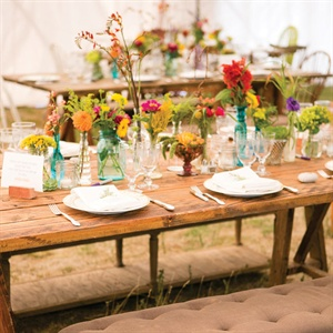 Rustic Wooden Reception Table