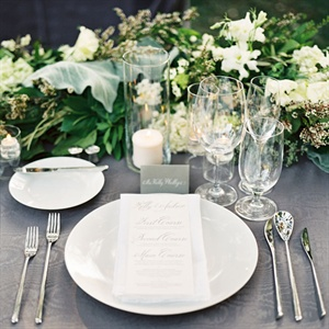 Elegant Gray and White Place Settings