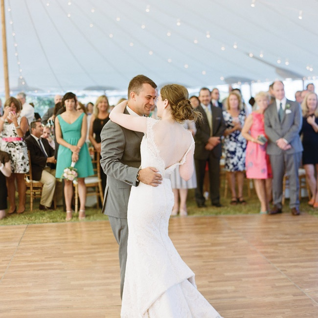 "The couple chose ""I Can't Help Falling in Love"" from Elvis for their first dance together."