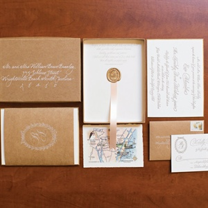 Rustic and Formal Invitation Suite