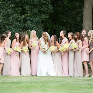 Mixed Light Pink Bridesmaid Dresses