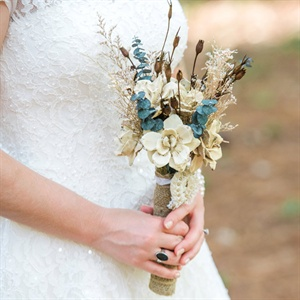 DIY Dried Flower Bridal Bouquet