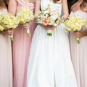 Ivory Stock Bridesmaid Bouquets