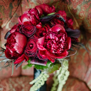 Dark Red Bridal Bouquet