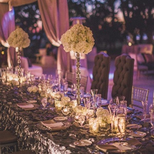 Metallic Gray Reception Decor