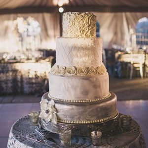 Silver Embellished Wedding Cake