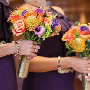 Bright Bridesmaids Bouquets