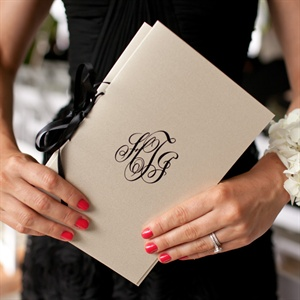 Monogrammed Program Booklet