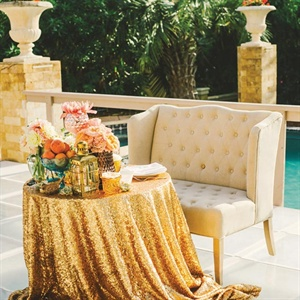 Gold Head Table