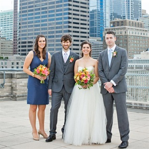 Gray and Navy Wedding Party