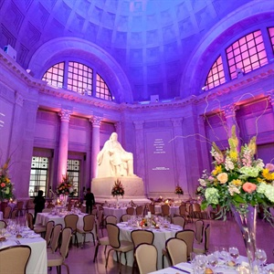 Purple Reception Uplighting
