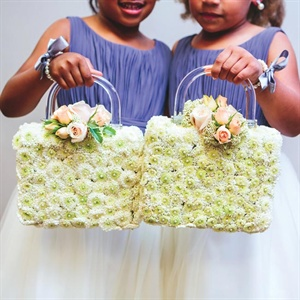 Matching Flower Girl Baskets