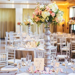 Neutral and Metallic Reception Decor