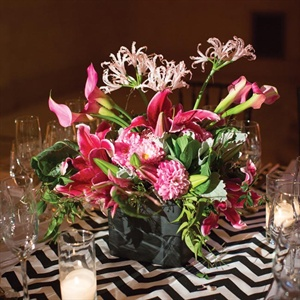 Pink Lily and Nerine Floral Decorations