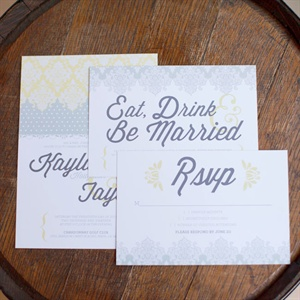Pastel Watercolor Invitation Suite