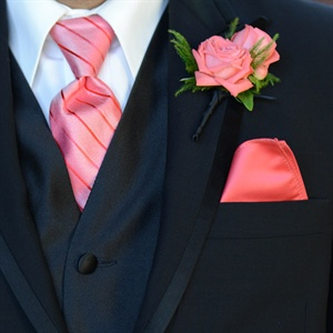 Coral Groomsmen Accessories