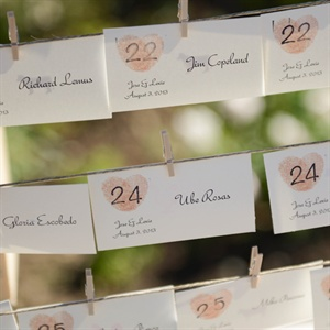 Heart Motif Escort Cards
