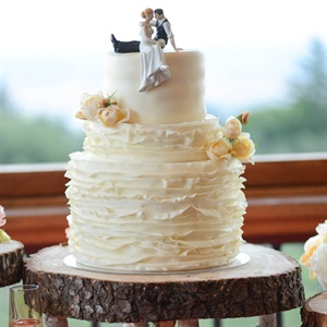 Rustic Ruffled Wedding Cake