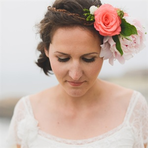 Floral Headpiece Bridal Look