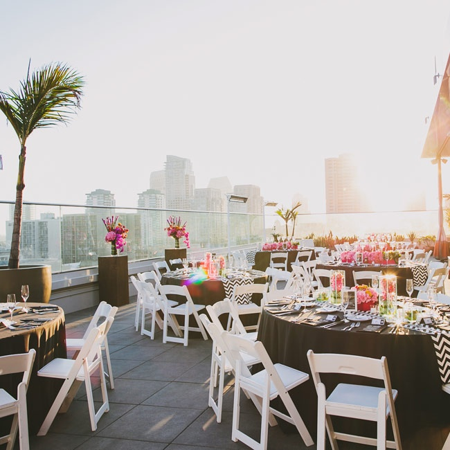 The rooftop of the Andaz Hotel, where the reception took place, offered breathtaking views of San Diego and the sunset.