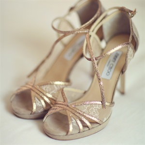 Lacy Rose Gold Jimmy Choo Heels