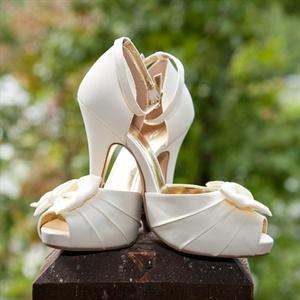 Ivory Satin High Heels