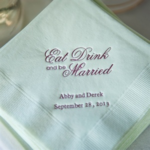 Mint Green Custom Cocktail Napkins