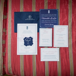 Navy Invitation Suite
