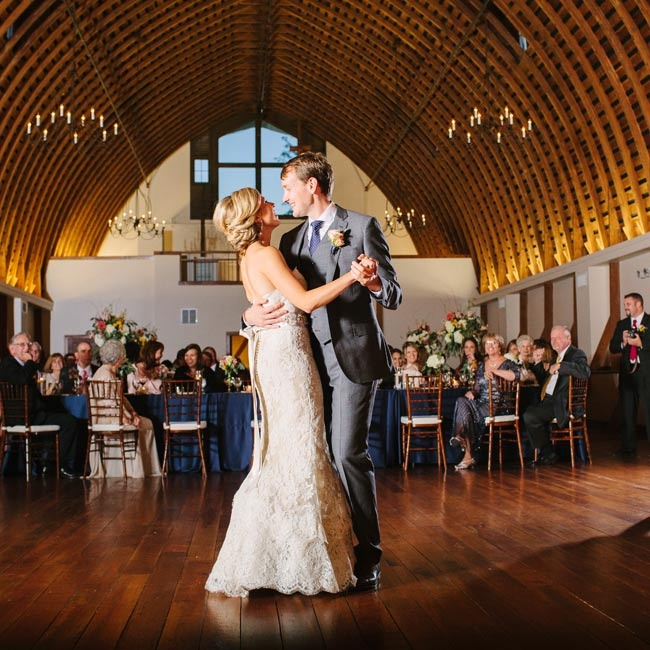"The couple danced to ""I Wanna Dance With You"" by George Strait, who Ryan wanted to be a back-up singer for while growing up! ""We always found ourselves singing this song and dancing to it when it was just the two of us,"" she says."