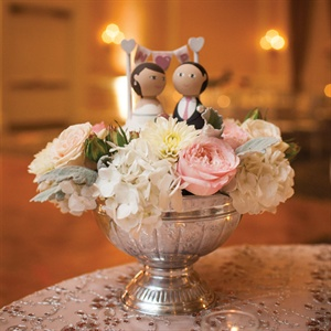 Bride and Groom Figurine Centerpiece