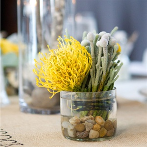 Yellow Protea Centerpieces