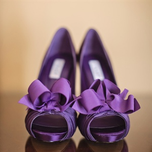 Purple Peep Toe Heels