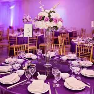 Rich Purple Reception Lighting
