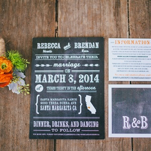 Chalkboard Themed Invitation Suite