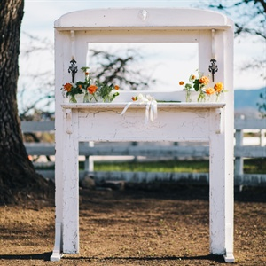 Repurposed Mantel Ceremony Arch