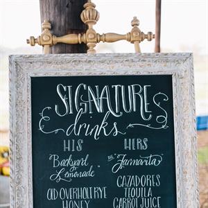 Chalkboard Drink Menu