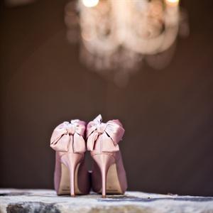 Pink Bow Embellished Heels