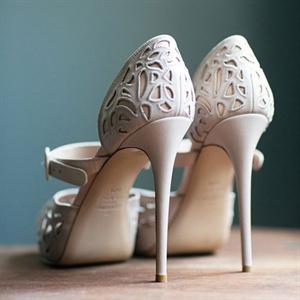 Laser-Cut Bridal Shoes