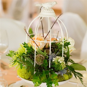 Garden-Inspired Bird Cage Centerpieces